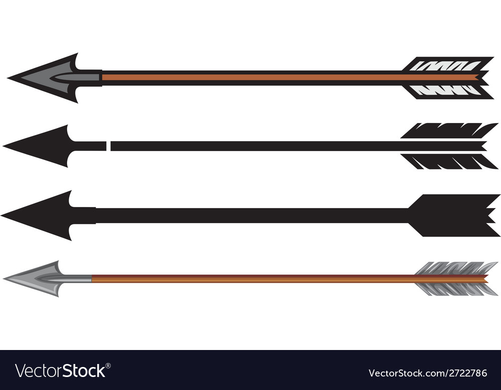 Hunting arrows collection vector