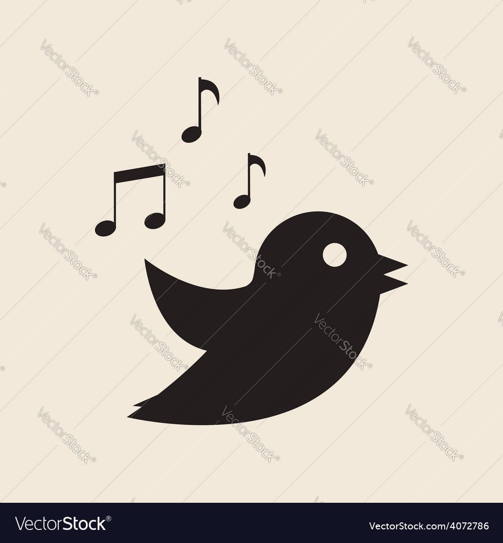 Icon twitter bird vector | Price: 1 Credit (USD $1)