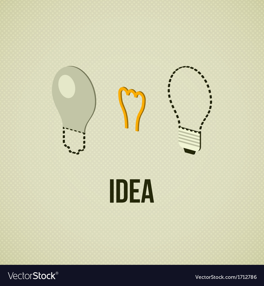 Light layered bulb idea concept template vector | Price: 1 Credit (USD $1)