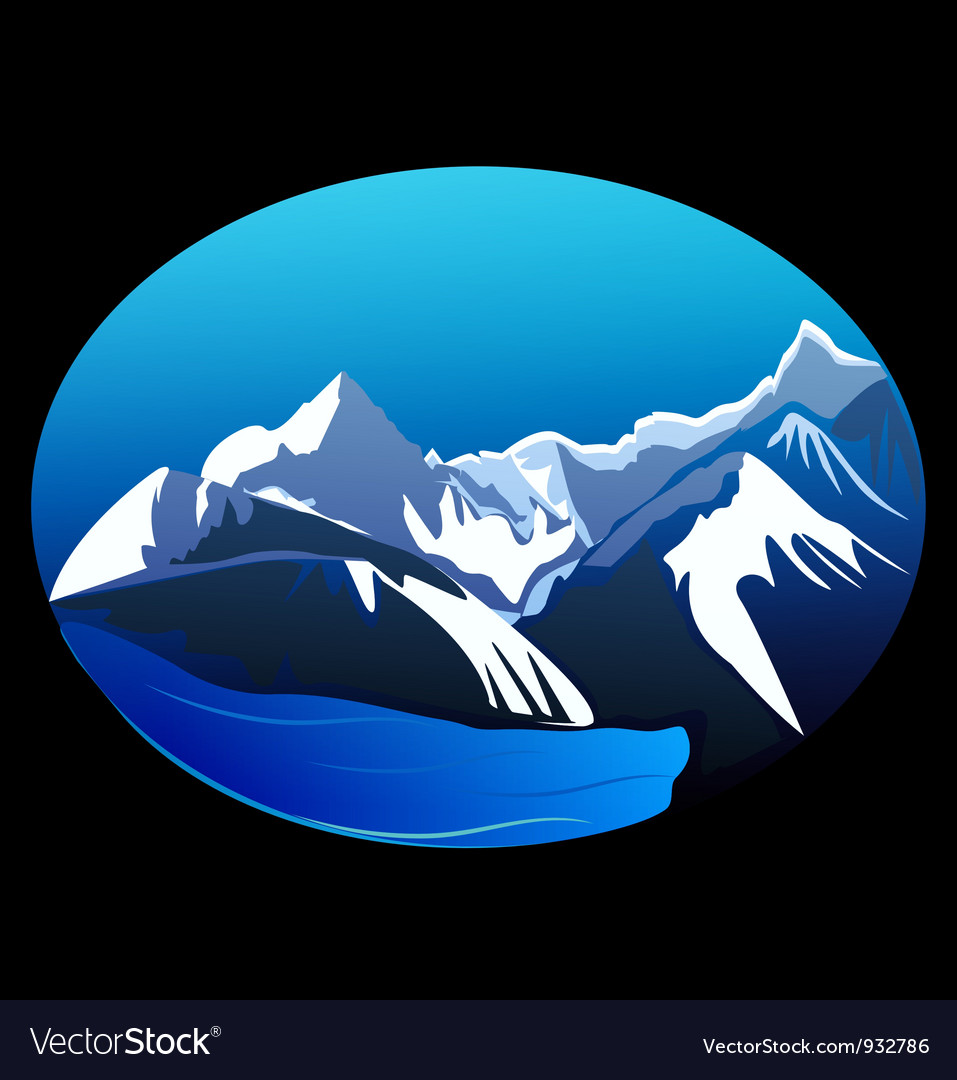 Mountains and peaks vector | Price: 1 Credit (USD $1)