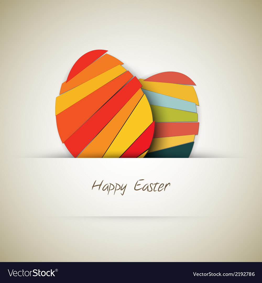 Paper easter egg card vector | Price: 1 Credit (USD $1)