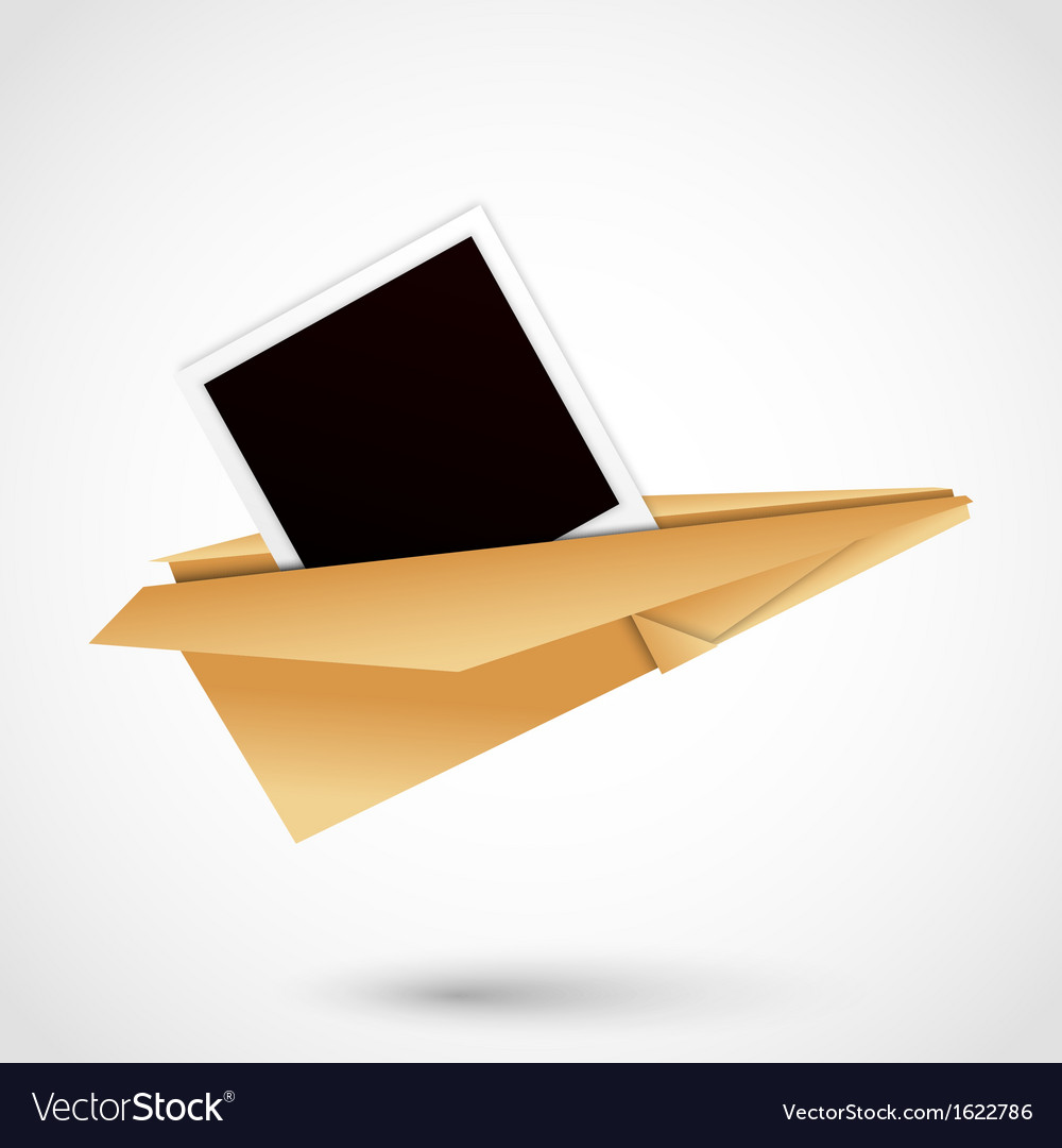 Polaroid paper plane vector | Price: 1 Credit (USD $1)