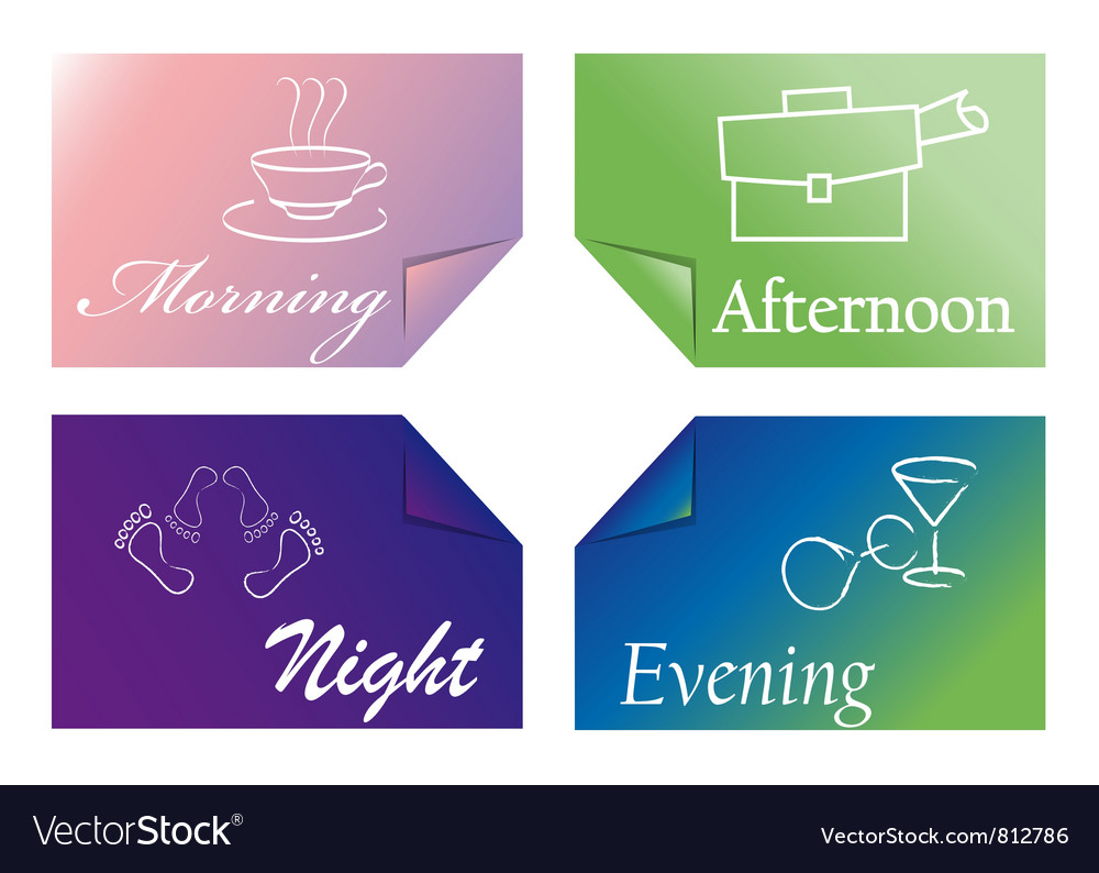 Time of day vector | Price: 1 Credit (USD $1)