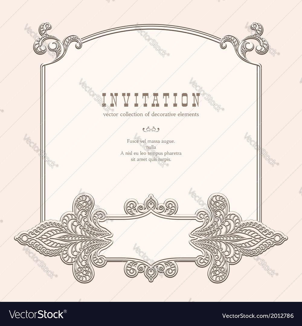 Vintage frame vignette vector | Price: 1 Credit (USD $1)