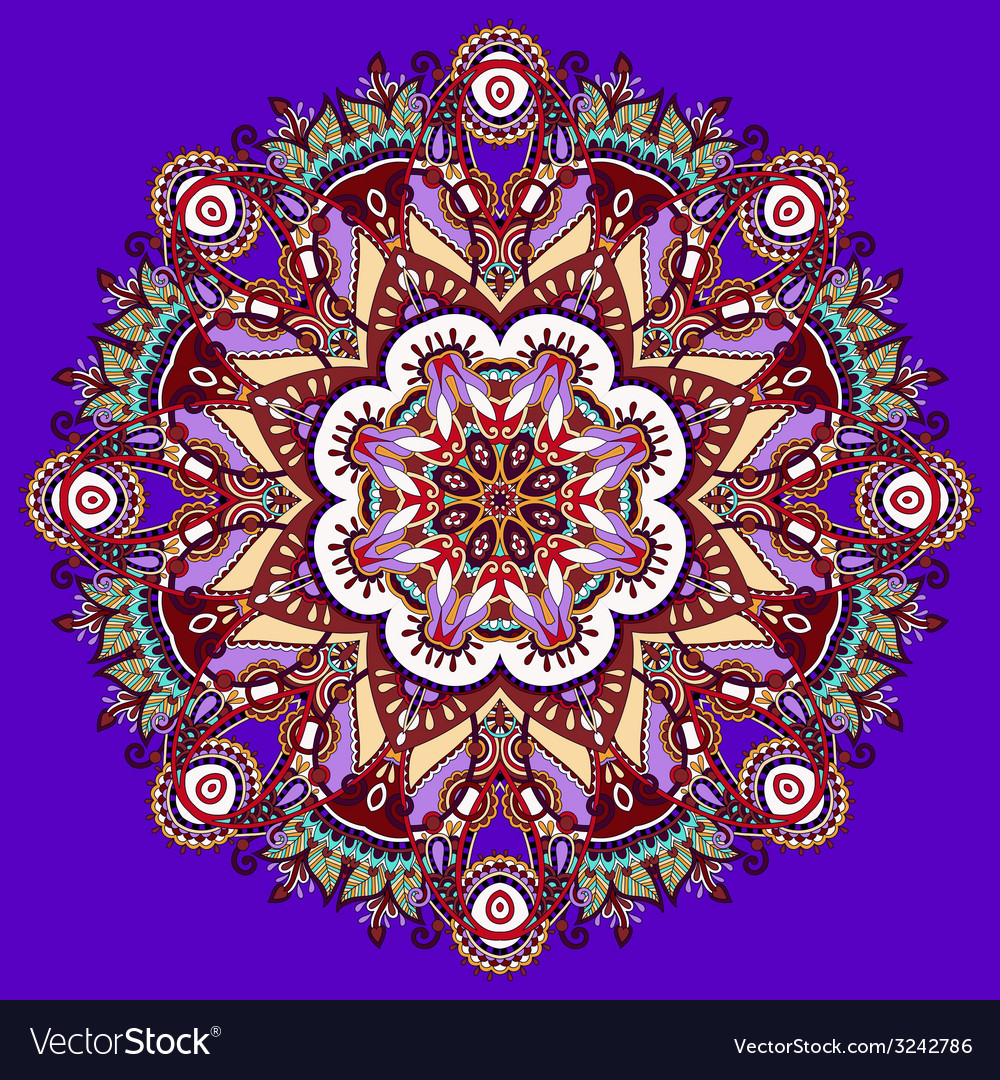 Violet colour mandala vector | Price: 1 Credit (USD $1)