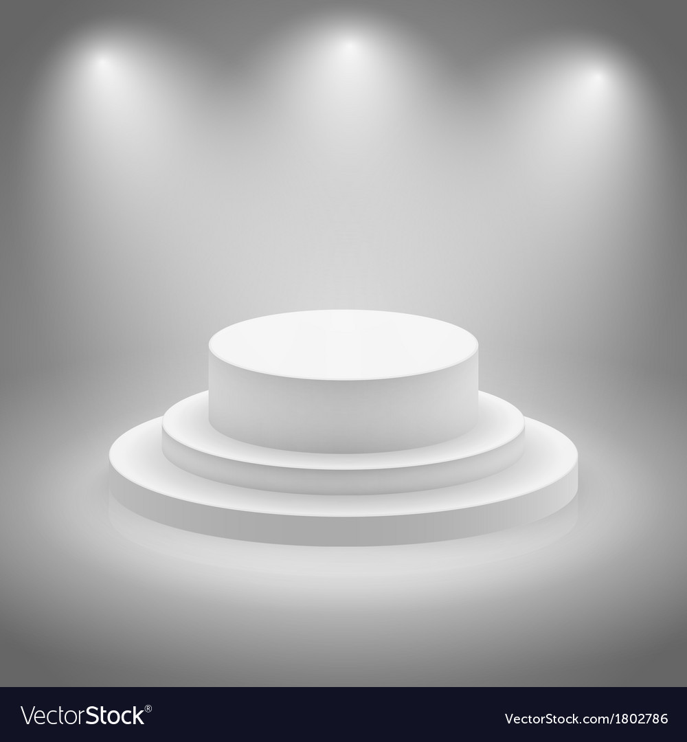 White empty illuminated stage vector | Price: 1 Credit (USD $1)