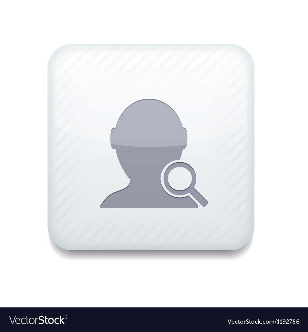 White search friend icon eps10 easy to edit vector | Price: 1 Credit (USD $1)