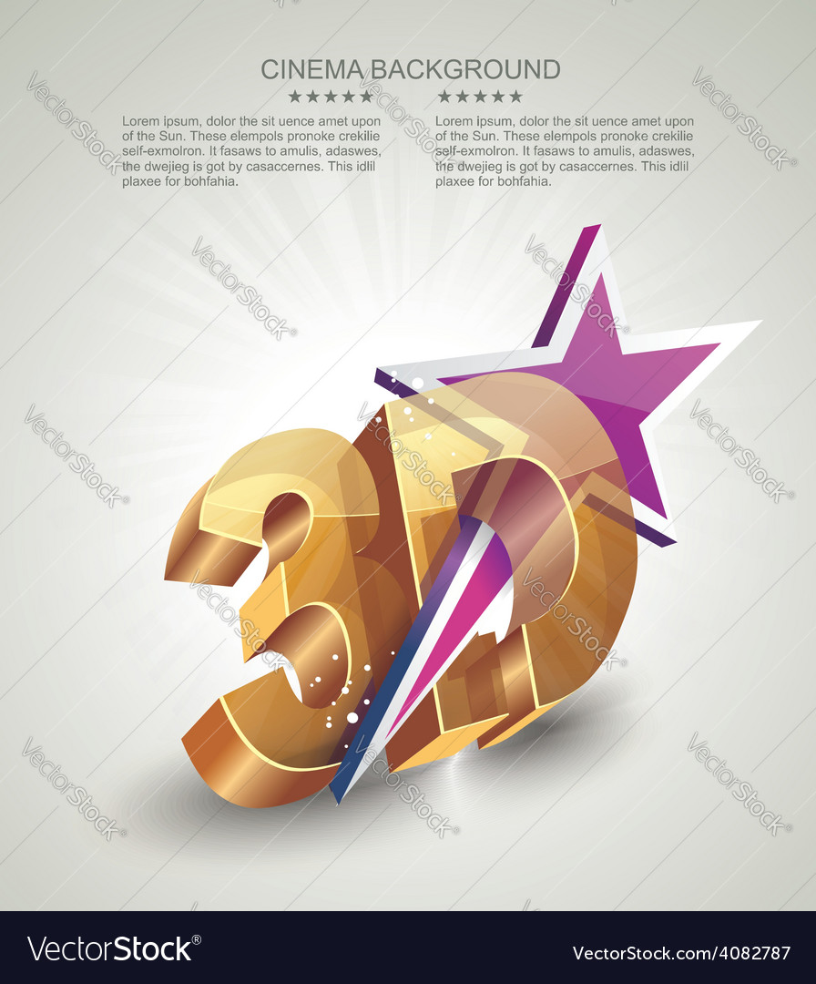 3d word in golden glass with star vector | Price: 1 Credit (USD $1)