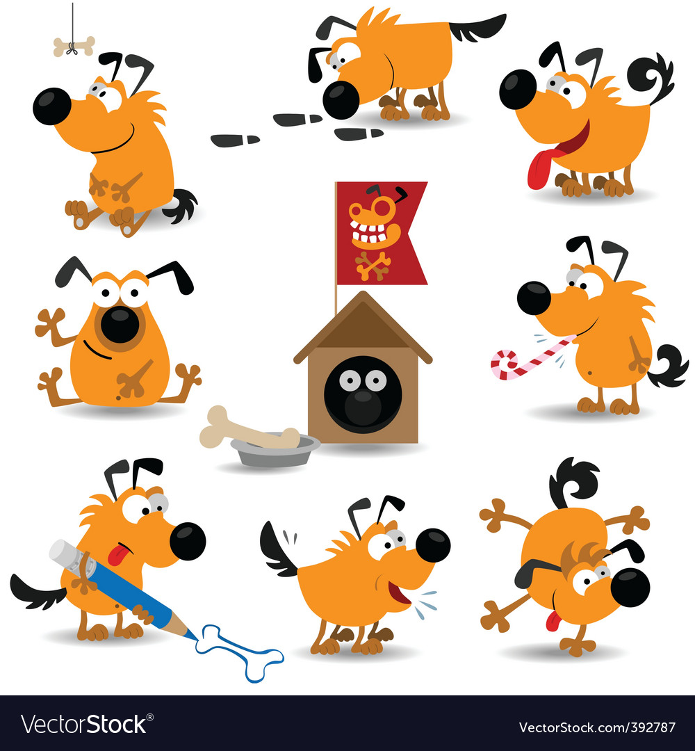 Cartoon dogs vector | Price: 3 Credit (USD $3)