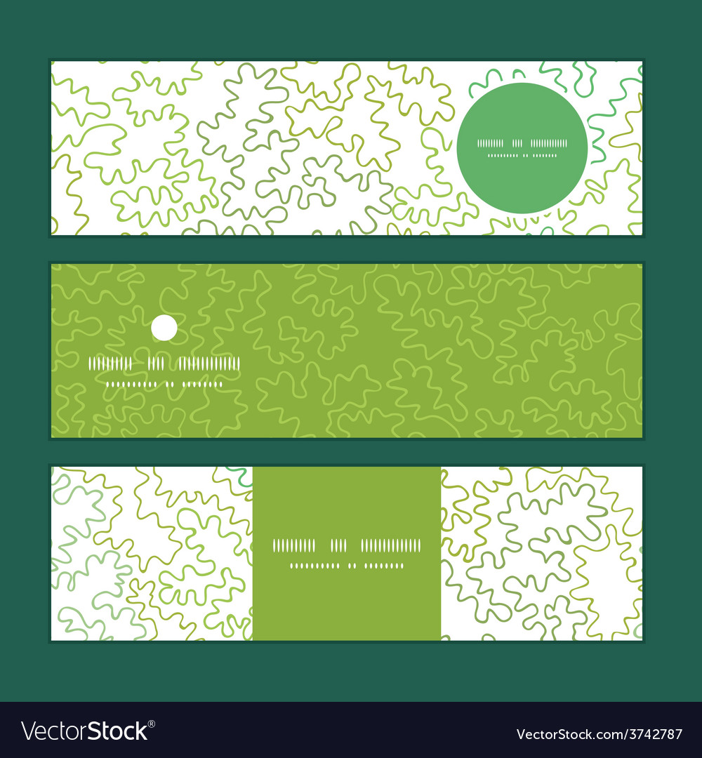 Curly doodle shapes horizontal banners set vector | Price: 1 Credit (USD $1)