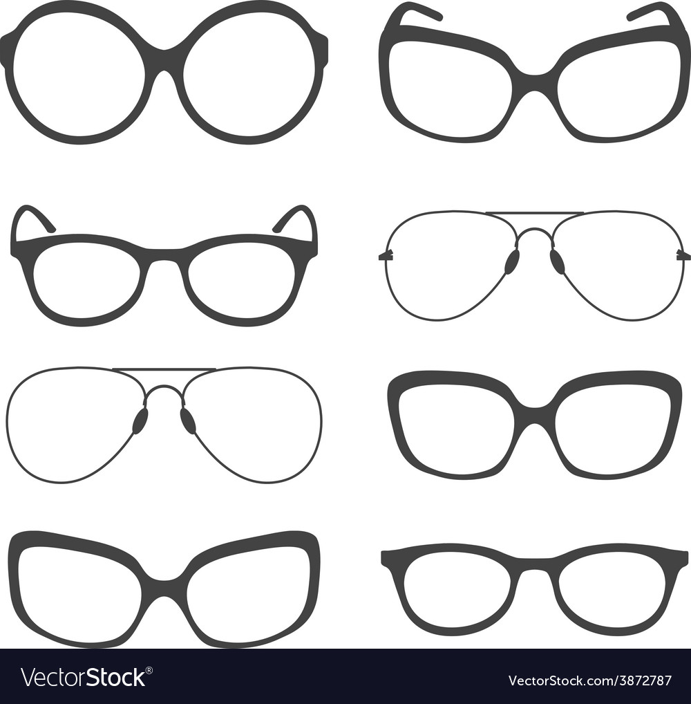 Eyeglasses silhouette vector | Price: 1 Credit (USD $1)