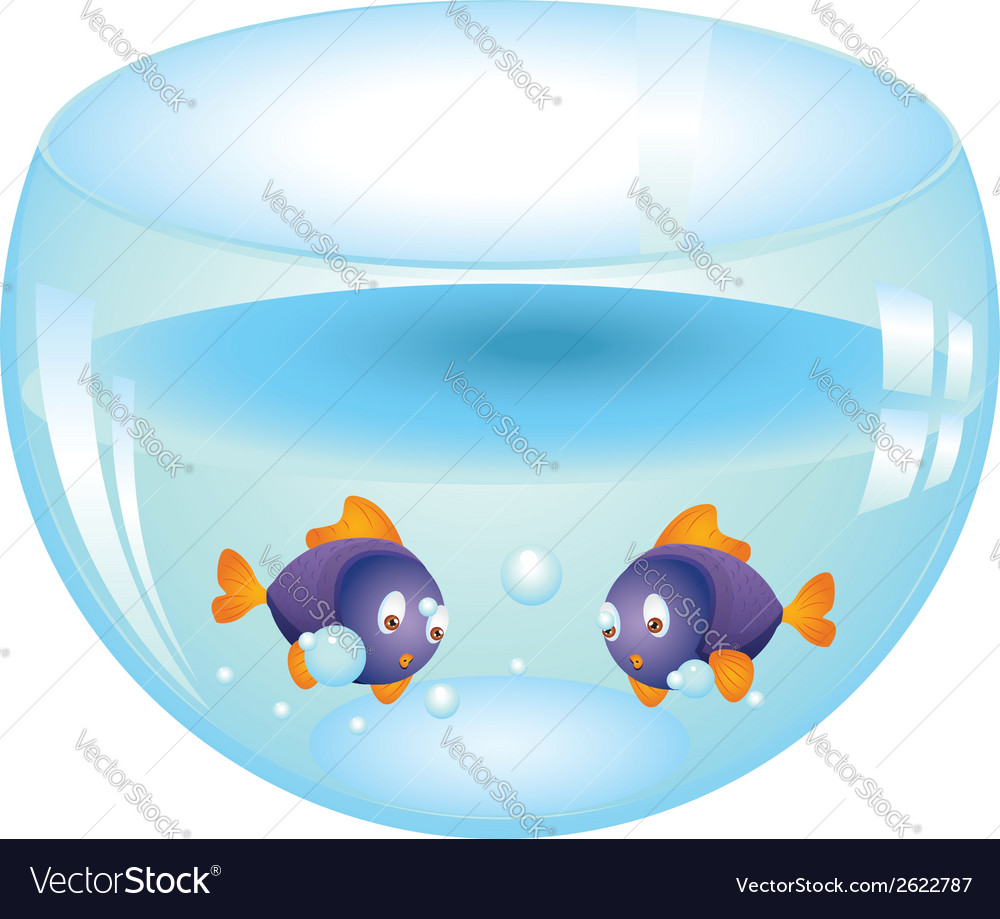 Fishes in aquarium vector | Price: 1 Credit (USD $1)