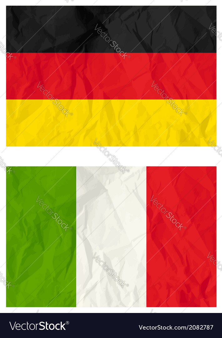 German and poland flags vector | Price: 1 Credit (USD $1)