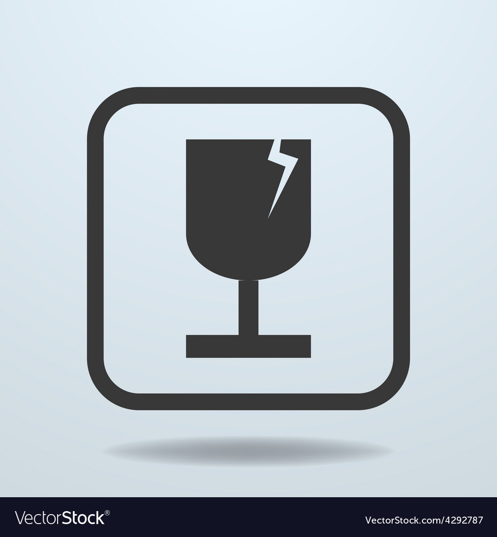 Icon of fragile symbol sign vector | Price: 1 Credit (USD $1)