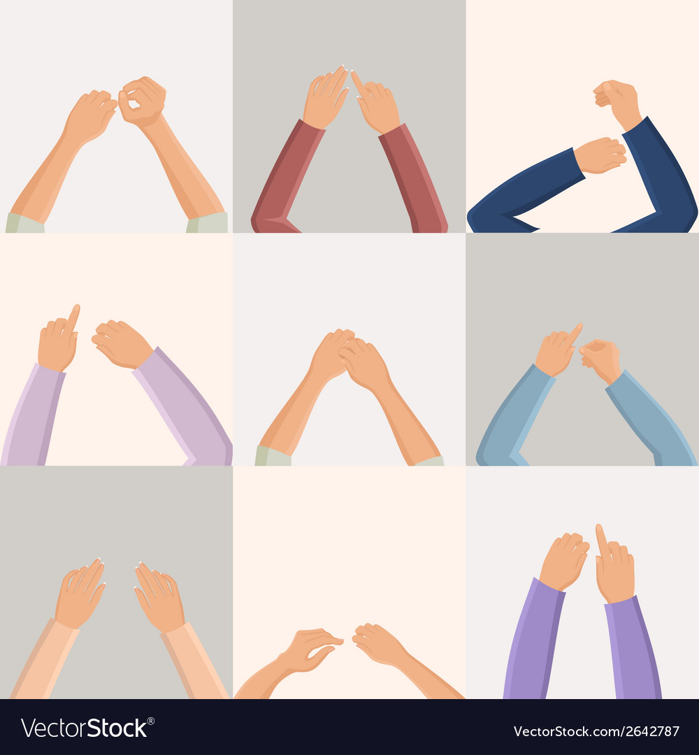 Set of hands vector | Price: 1 Credit (USD $1)