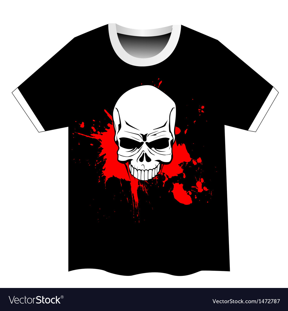 Skull t shirt design vector | Price: 1 Credit (USD $1)