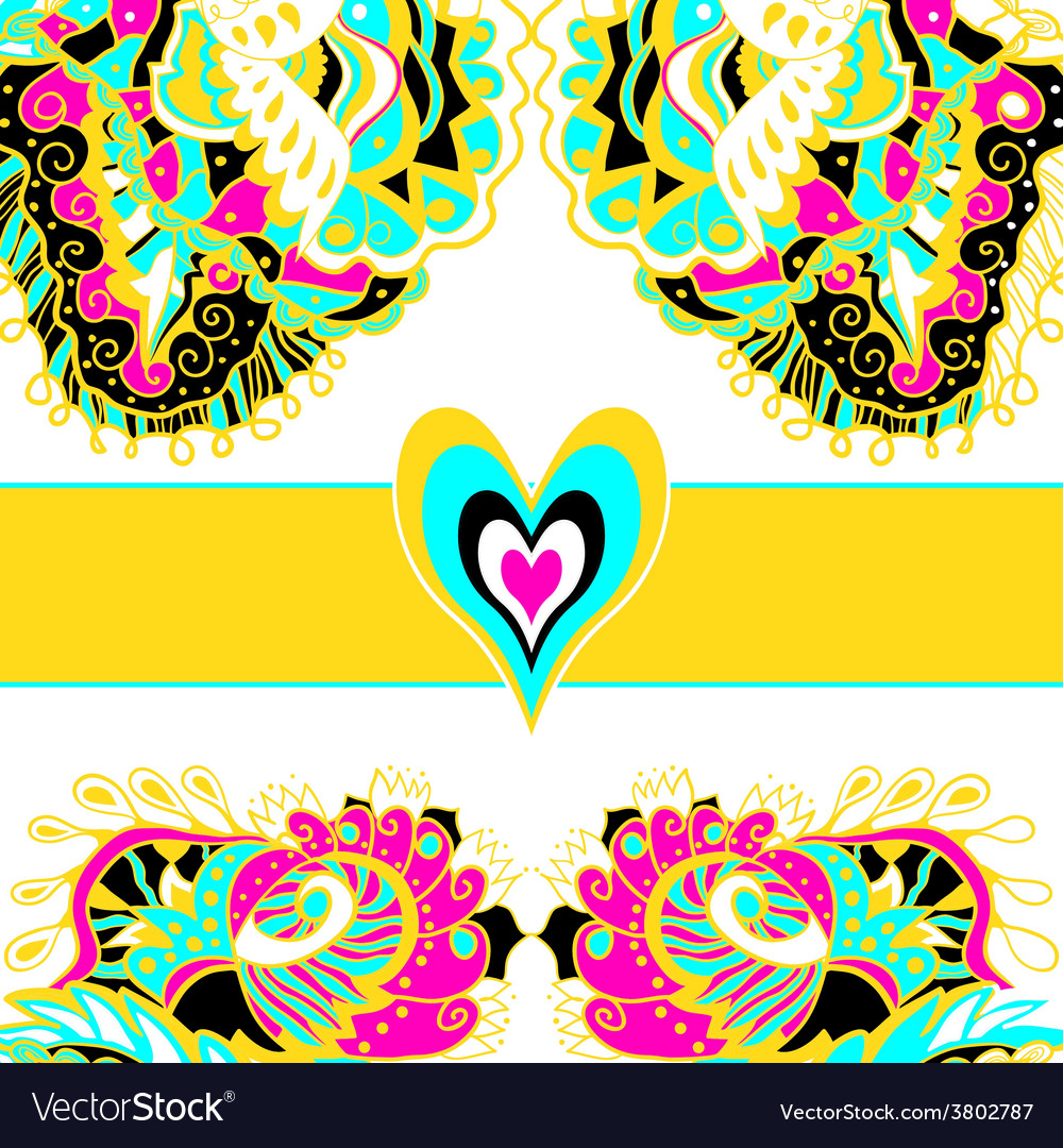 Wedding card or invitation with abstract floral vector | Price: 1 Credit (USD $1)