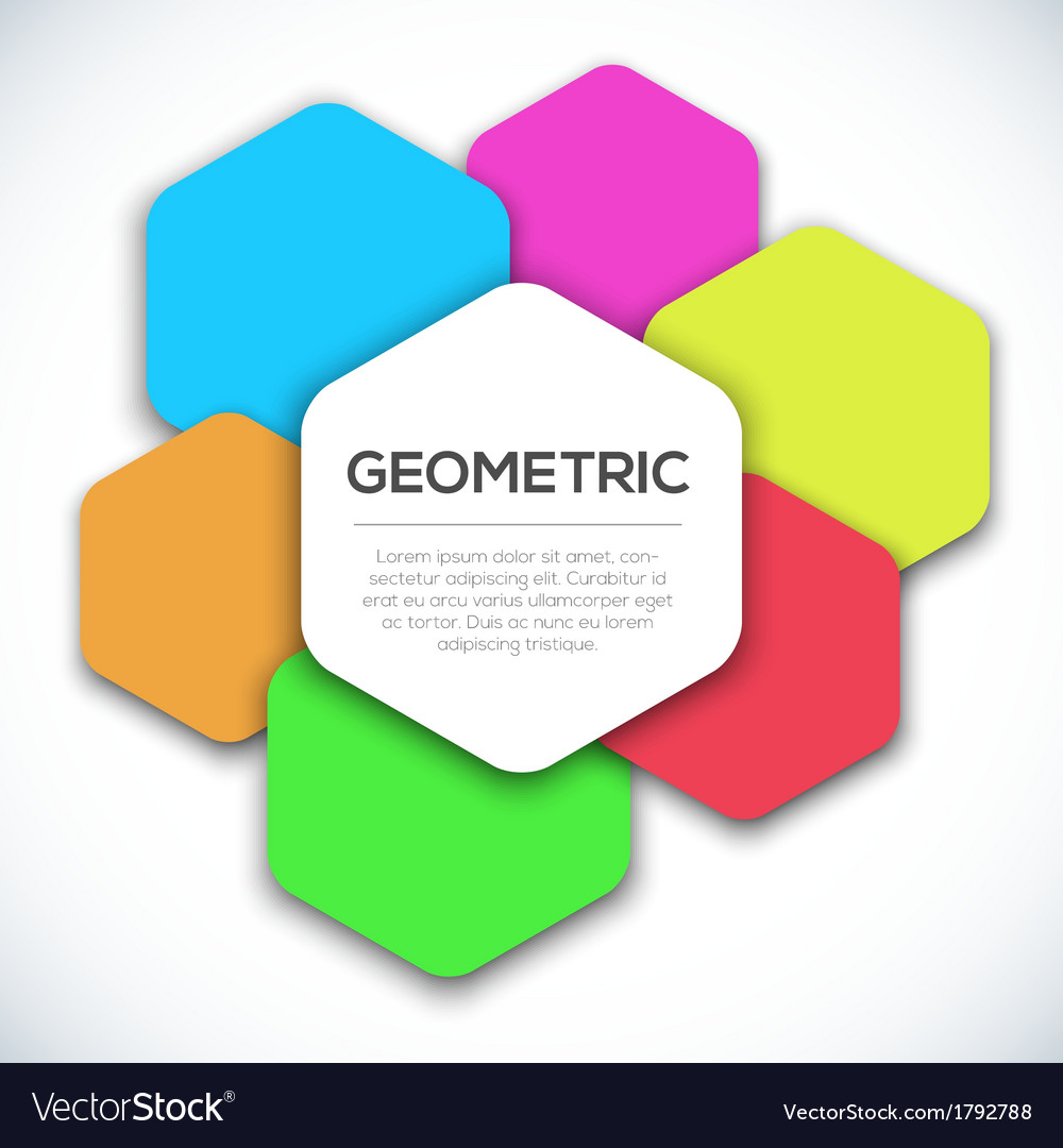 Geometric colorful abstract background vector | Price: 1 Credit (USD $1)