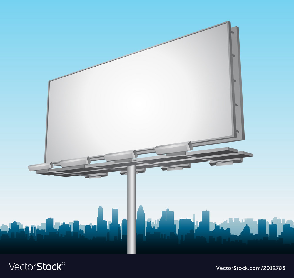 Highway ad billboard roadside vector | Price: 1 Credit (USD $1)