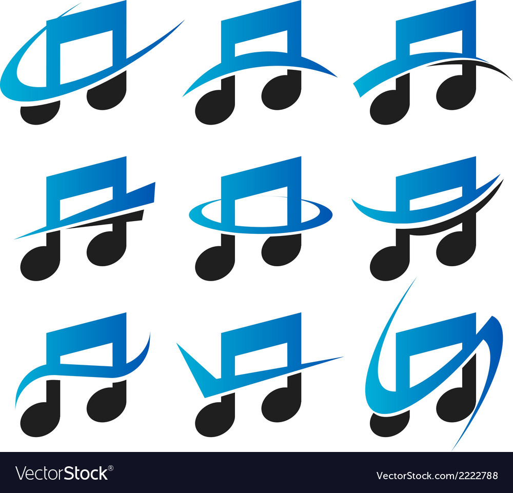 Music logo icons vector | Price: 1 Credit (USD $1)