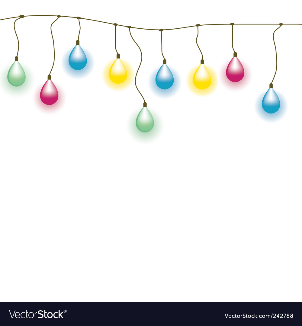 Old lamp garland seamless vect vector | Price: 1 Credit (USD $1)