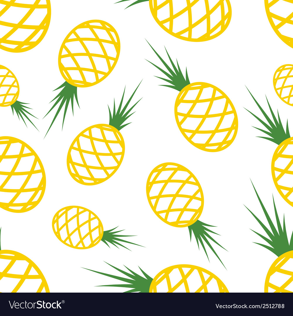 Pattern circuit pineapples vector | Price: 1 Credit (USD $1)