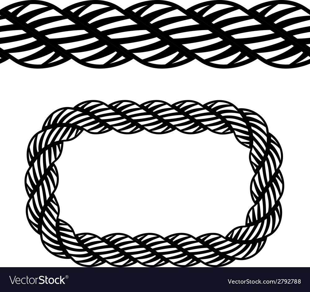 Seamless black rope symbol vector | Price: 1 Credit (USD $1)