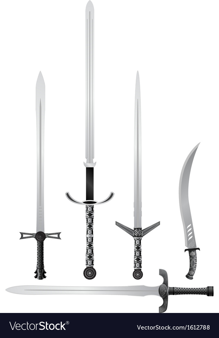 Set of medieval swords vector | Price: 1 Credit (USD $1)