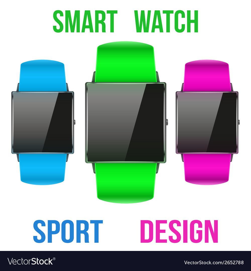 Smart design example sport wrist watch vector | Price: 1 Credit (USD $1)