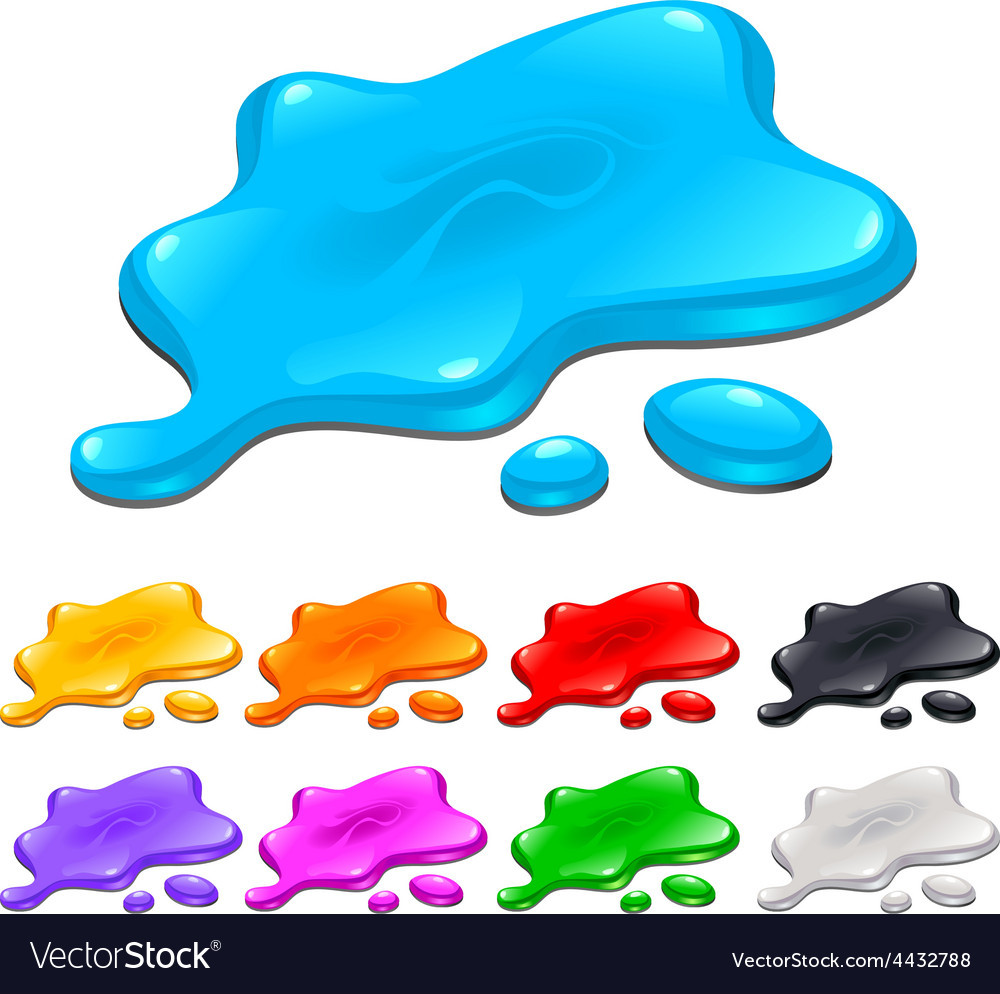 Spots in different colors vector | Price: 1 Credit (USD $1)