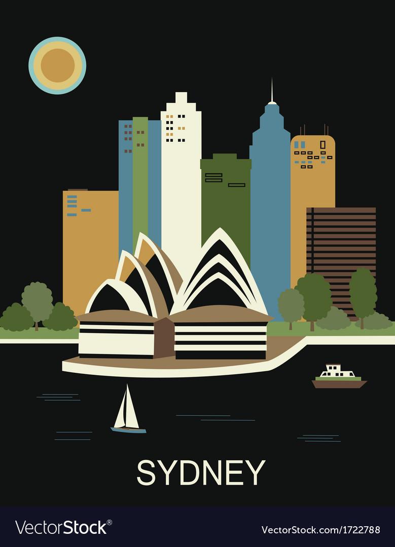 Sydney australia vector | Price: 1 Credit (USD $1)