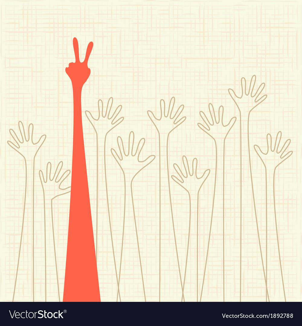 Warm colorful up hands vector | Price: 1 Credit (USD $1)