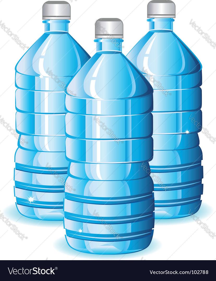Water bottles vector | Price: 1 Credit (USD $1)