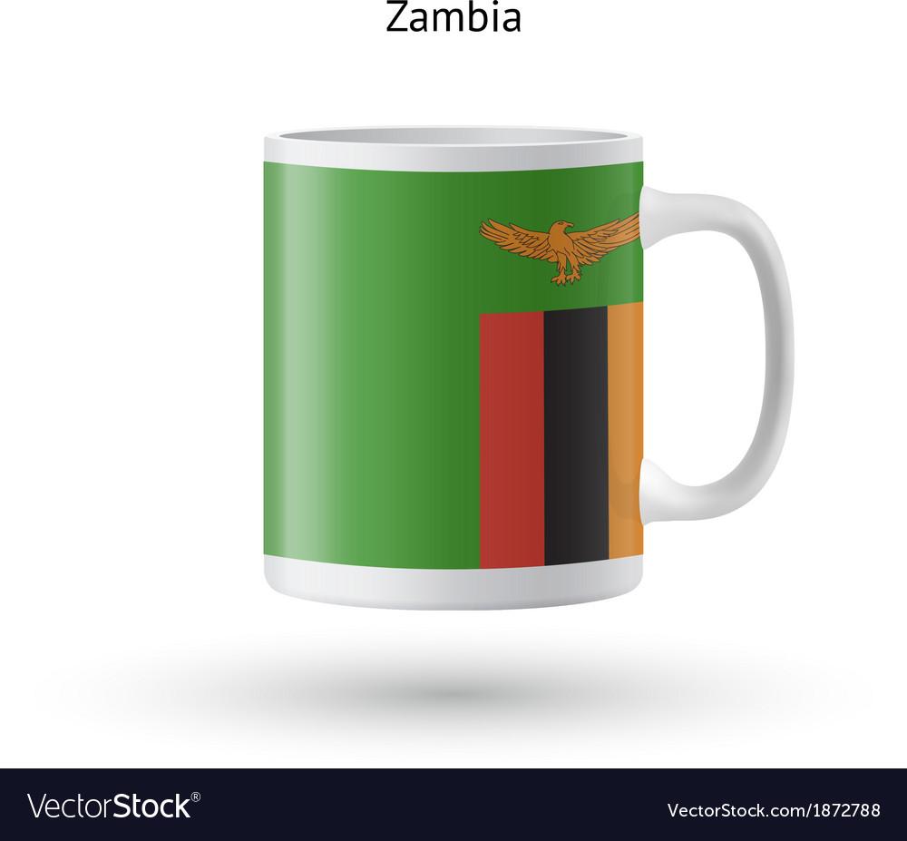 Zambia flag souvenir mug on white background vector | Price: 1 Credit (USD $1)