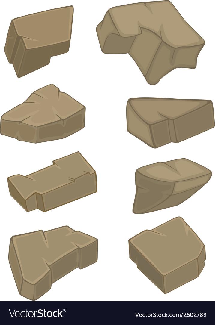 A set of stones vector