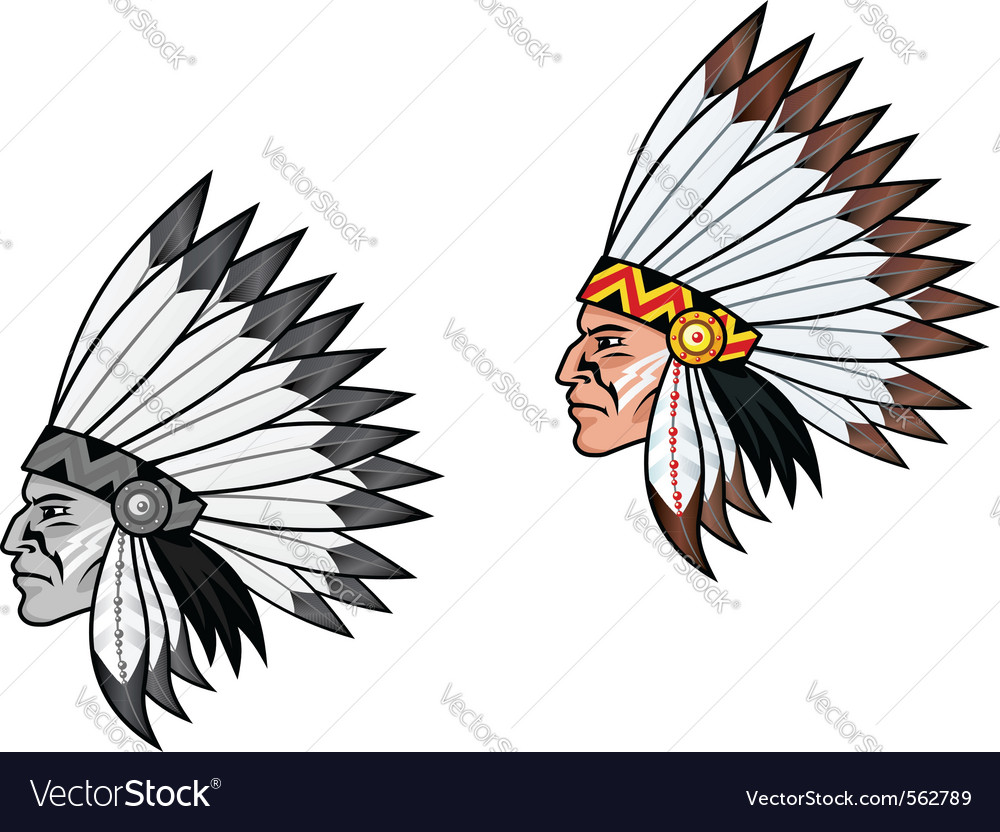 American indian head vector | Price: 1 Credit (USD $1)