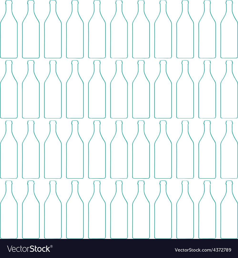 Bottle silhouette pattern vector | Price: 1 Credit (USD $1)