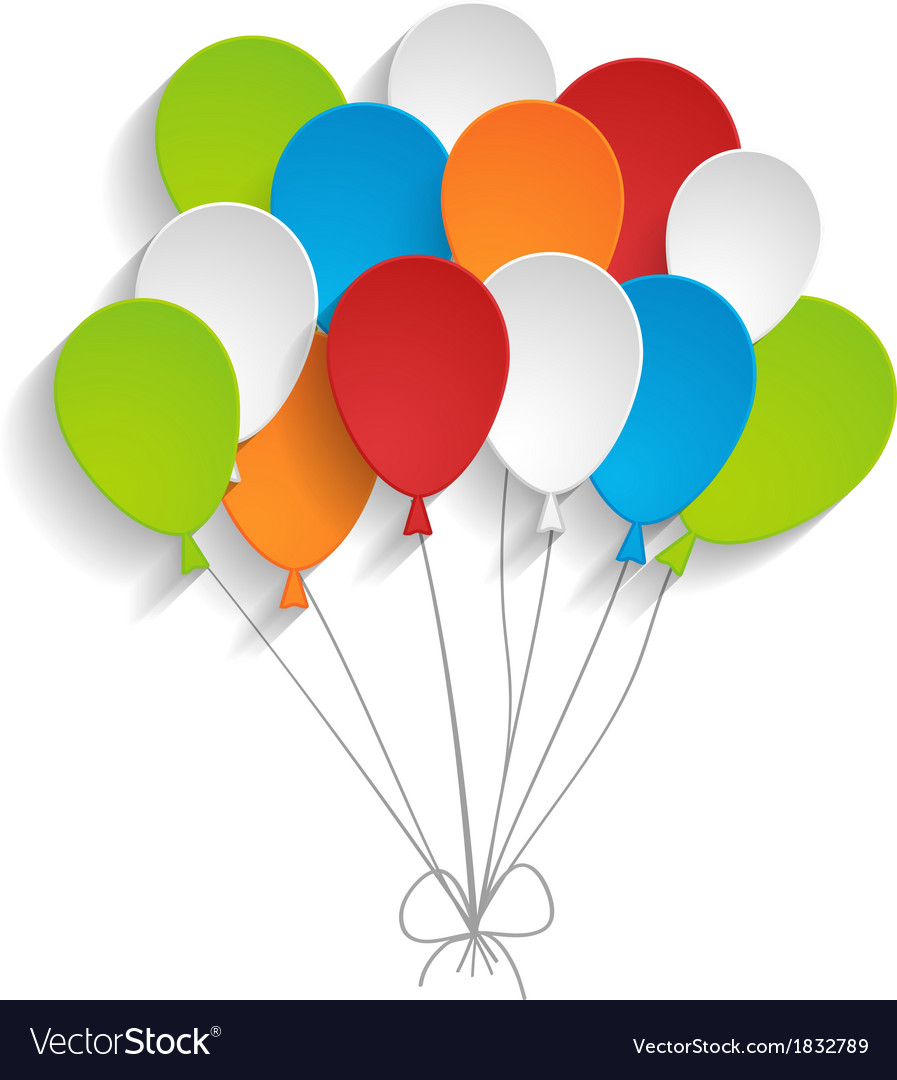 Bright paper balloons vector   Price: 1 Credit (USD $1)