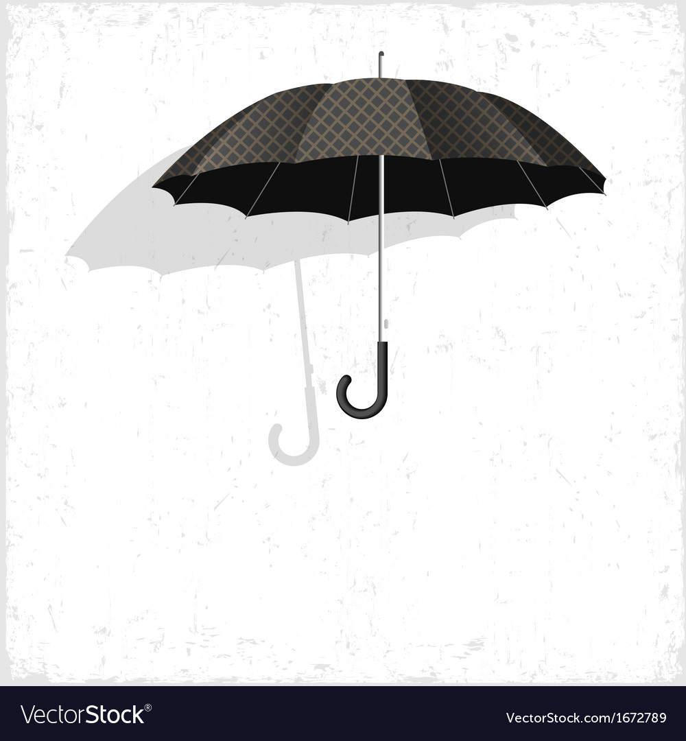 Classical umbrella on grunge background vector | Price: 1 Credit (USD $1)