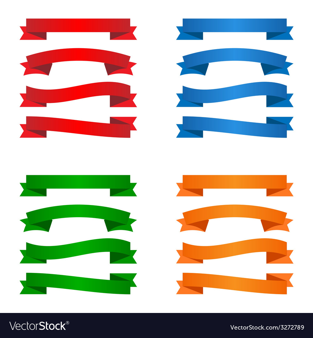 Colorful blank ribbons vector | Price: 1 Credit (USD $1)