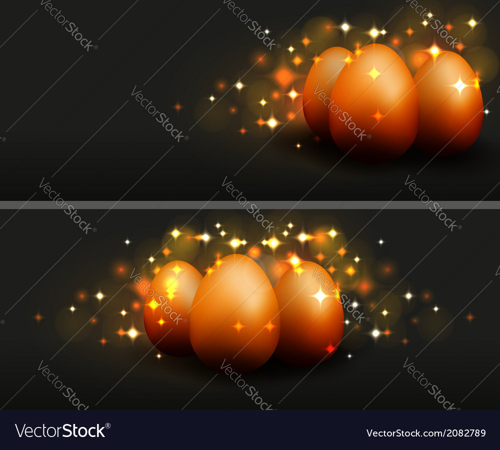 Easter eggs design template vector | Price: 1 Credit (USD $1)