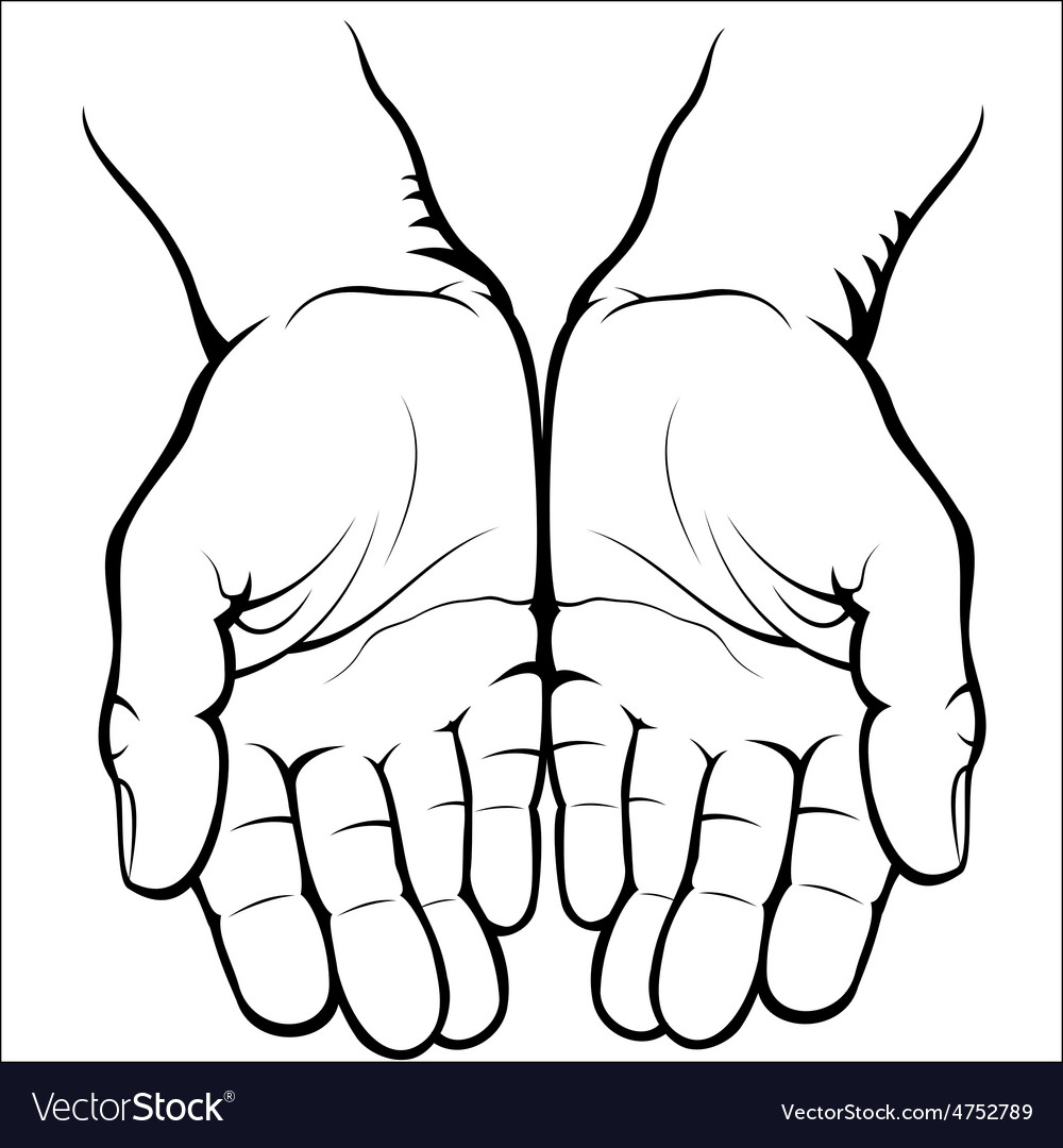 Empty open palms vector | Price: 1 Credit (USD $1)