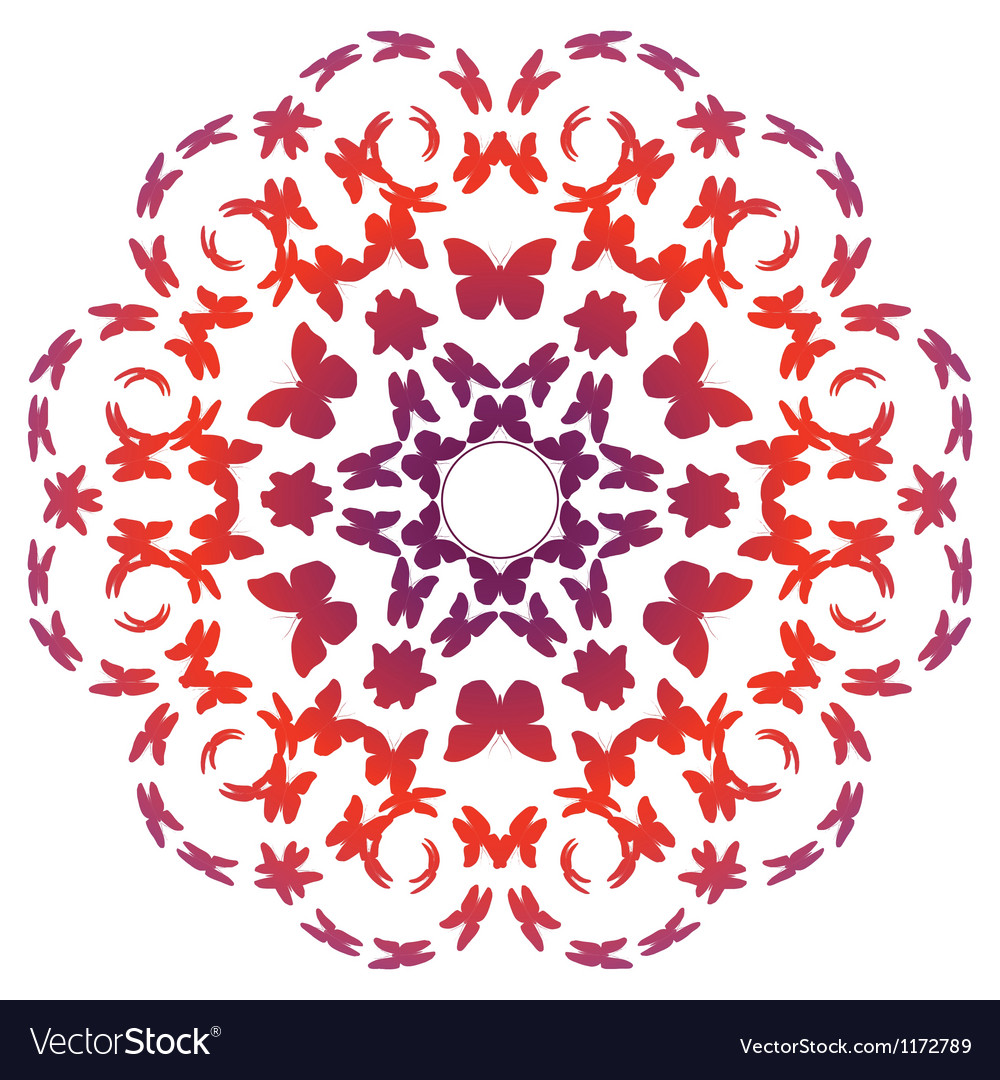 Flower made of flying butterflies vector | Price: 1 Credit (USD $1)
