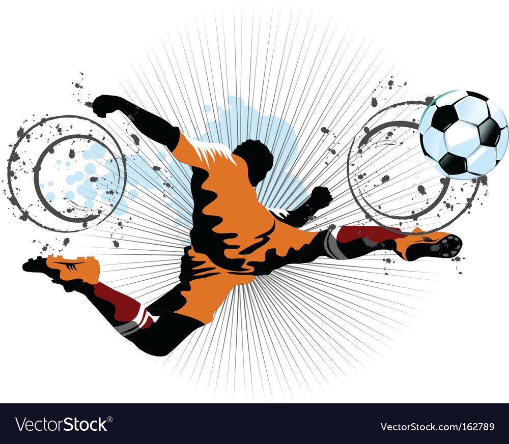 Football player in attack vector | Price: 1 Credit (USD $1)