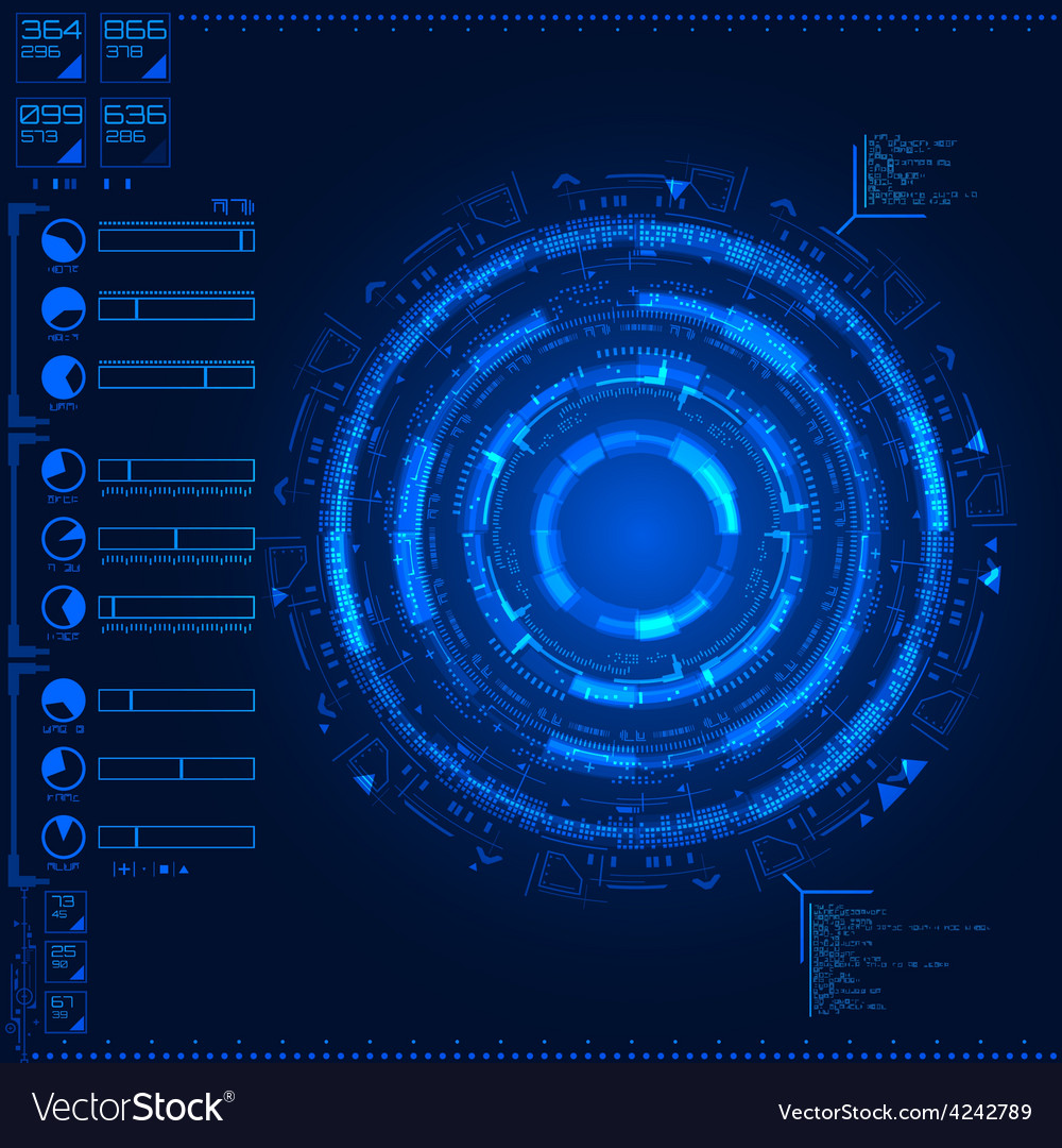 Futuristic graphic user interface vector | Price: 1 Credit (USD $1)