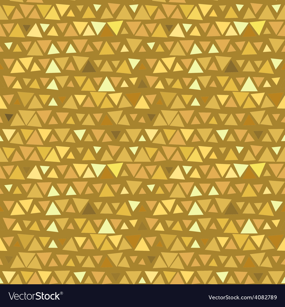 Golden triangle seamless pattern yellow beige vector