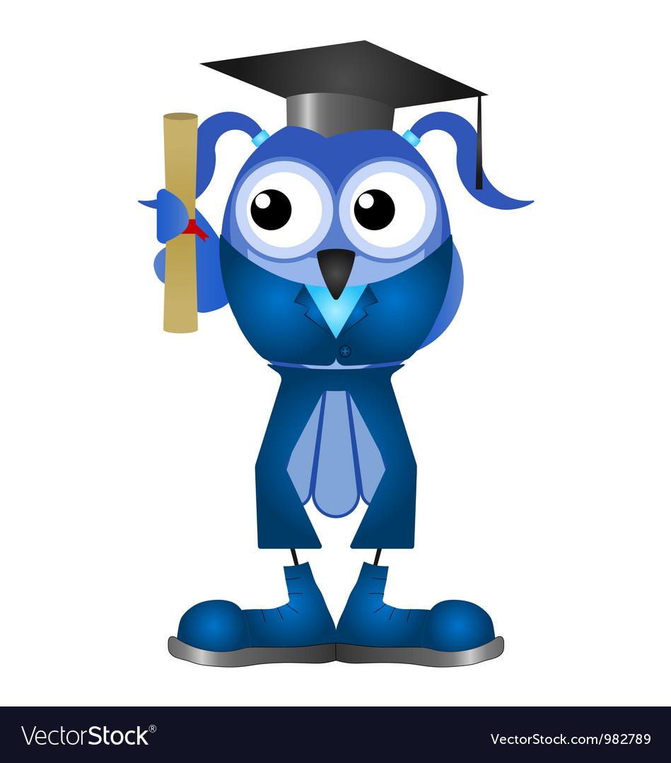 Graduation woman vector | Price: 1 Credit (USD $1)