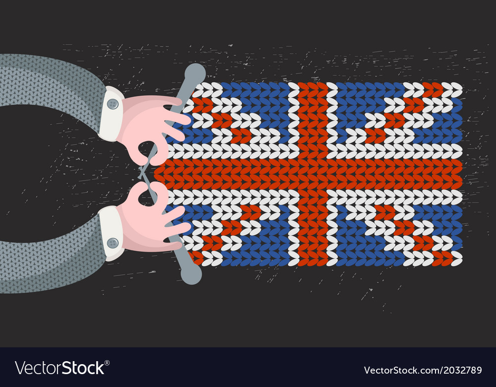 Hand made british flag vector | Price: 1 Credit (USD $1)