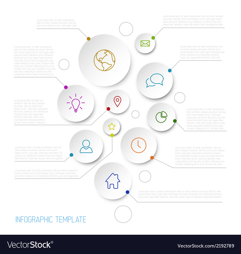 Infographic report poster with circles vector | Price: 1 Credit (USD $1)