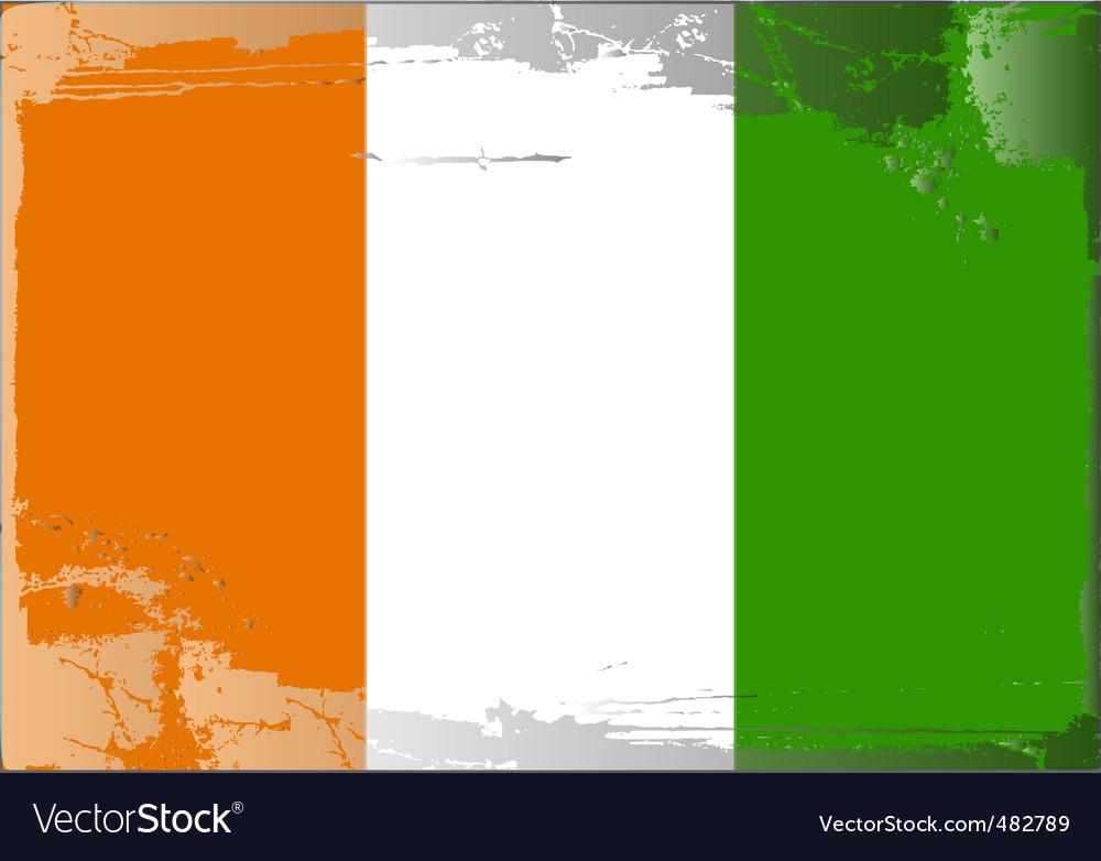 Ireland national flag vector | Price: 1 Credit (USD $1)